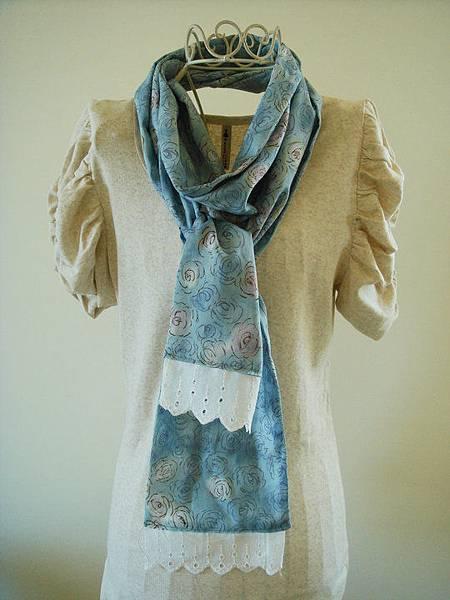 990619藍玫瑰佐蕾絲夏日圍巾2.jpg