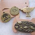 古銅吊飾~鳥兒