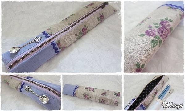 1010720拉鏈筷袋_紫玫瑰佐蕾絲(日本布)a
