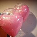場內佈置很多愛心氣球