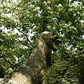 埋在桐花裡的恐龍
