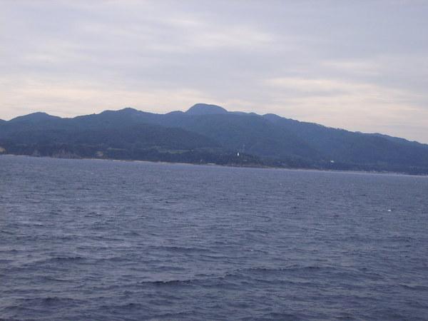ウォ- 佐渡島が見えた