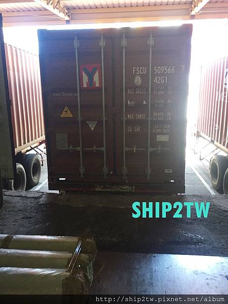 留學生謝小姐要從美國海運回台灣的物品送到ship2tw美國倉庫囉!