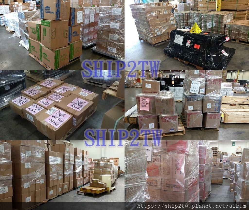 美國海運行李搬家回台灣不是很容易的事,需要整理行李打包行李,傢俱和汽車也要看是要送人還是要美國賣掉,當然可以一起海運回台灣是最好,如果有美國自用汽車回台灣Ship2tw也可以協助喔! 圖為Ship2tw在美國倉庫的照片可以看到Ship2tw都是用棧板來整理每位客戶的行李、包裹、物品,Ship2tw用棧板的目的就是要可以保護每位華僑留學生需要海運回台灣的行李、傢俱,想像一下20-30箱的行李或是包裹物品直接放在地面上,不儘不美觀外從地上搬運到貨櫃也不方便而且要花上1個人一小時左右的時間浪費人力,如果使用棧板來堆置這20-30箱的行李或是包裹,看起來整齊而且從倉庫搬運到貨櫃中只需要叉車、堆高機幾分鐘的時間就輕鬆完成。