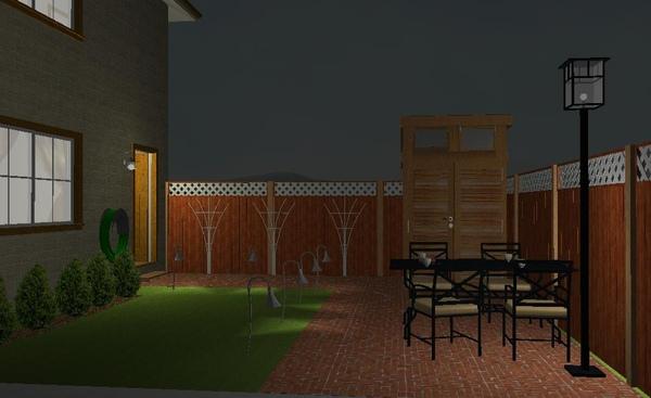 兩房一廳雙層小別墅夜景