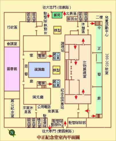 中正紀念堂室內平面圖