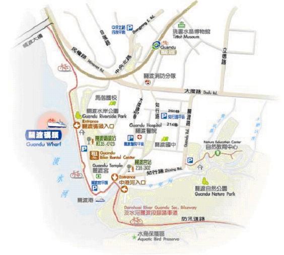 關渡碼頭導覽地圖