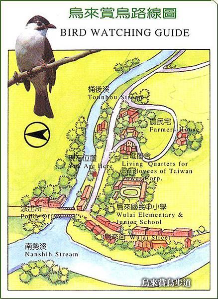 烏來賞鳥路線圖