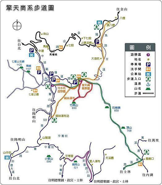 擎天崗系步道圖