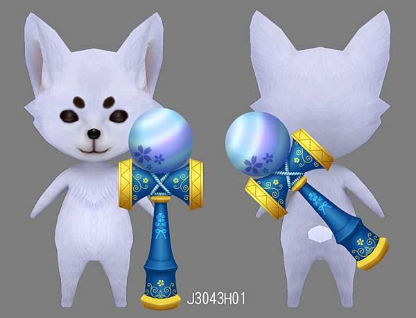 狐吉-劍玉背飾