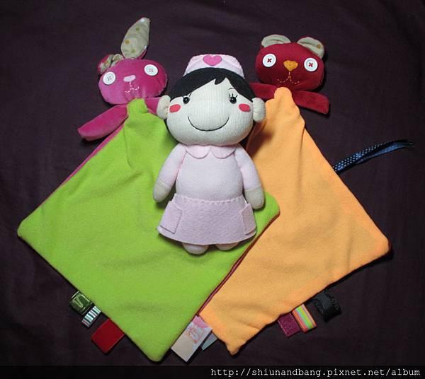 20131212撞色兔熊寶安撫巾3
