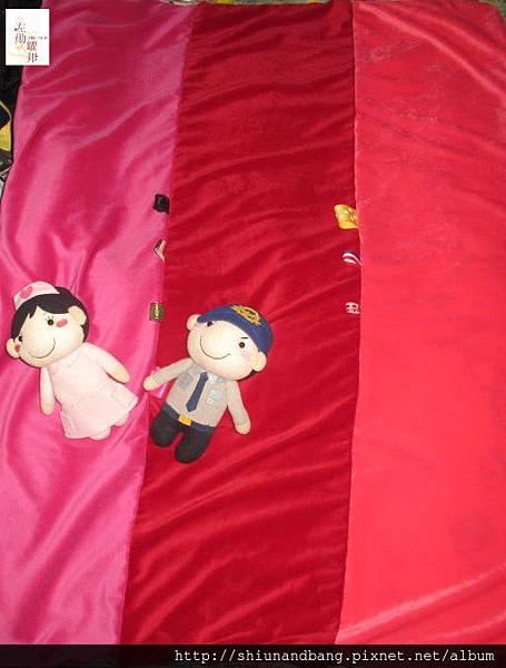 粉紅兔冬毯遊戲毯3
