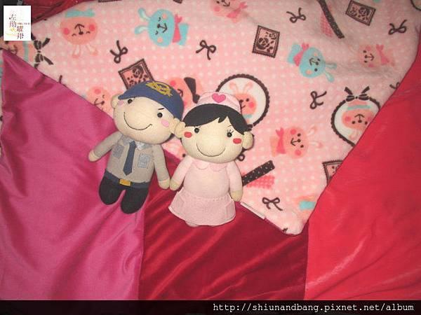粉紅兔冬毯遊戲毯4