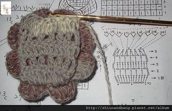 NO.6小花勾棒針圍巾33