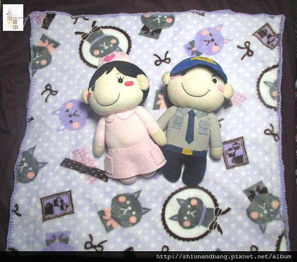 淺紫貓小蓋毯1