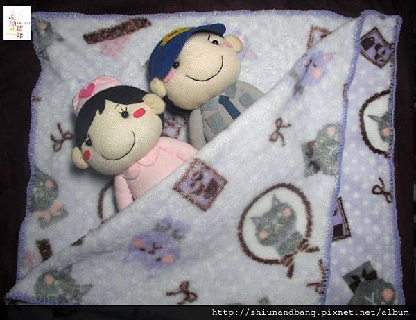淺紫貓小蓋毯2