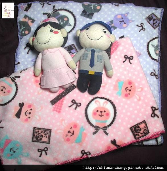 淺紫貓小蓋毯4