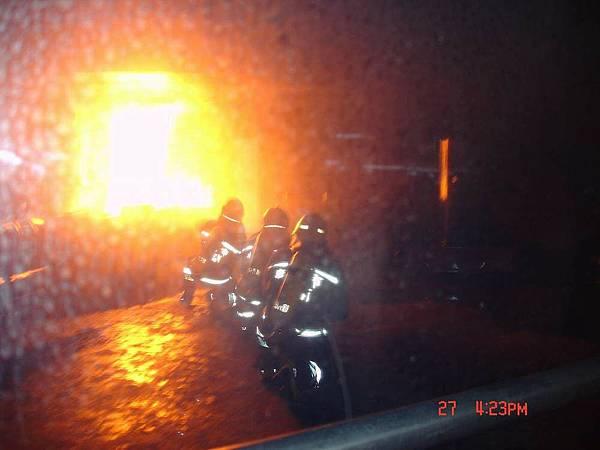模擬火災現場