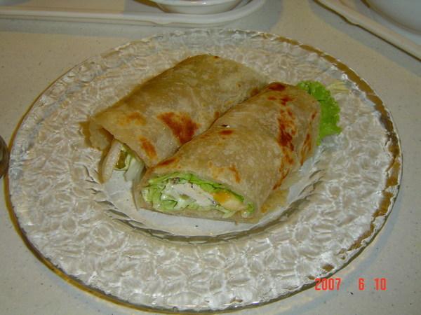 瓦曼印度咖哩餐廳~蔬菜雞肉捲