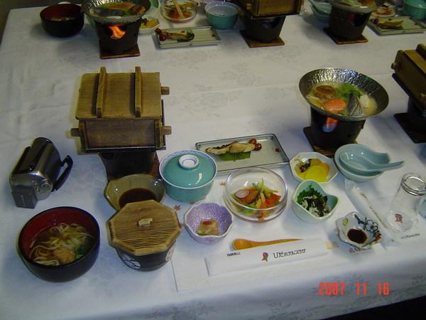 晚餐~日式會席料理
