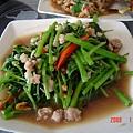 PAPAYA餐廳~蝦醬空心菜(100元)