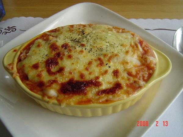 太妃公寓~蕃茄焗烤飯