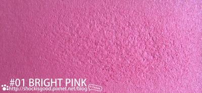 01 Bright Pink 亮光粉紅 ブライトピンク