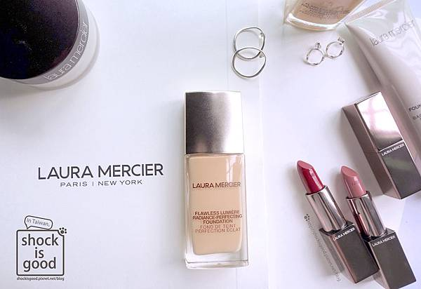 Laura Mercier 煥顏粉露、摩登精華唇膏 Flawless Lumière Foundation、Rouge Essentiel Silky Crème Lipstick