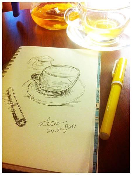 咖啡廳速寫