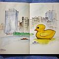 黃色小鴨 (水彩)