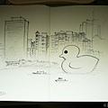 黃色小鴨 (線稿)