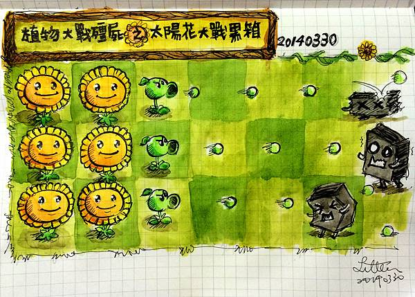 太陽花大戰黑箱,水彩。20140330