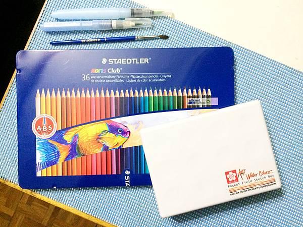 水彩色鉛筆&水彩