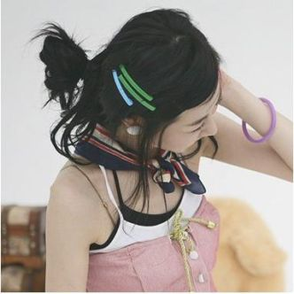 C001 VIVI推荐 彩虹发夹 边夹 五彩糖果横夹 一字夹2 RM0.50