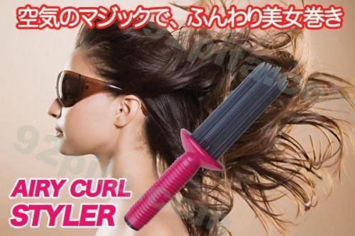 C011  暢銷明星商品~日本lucky 空氣感蓬髮捲翹造型髮捲~  RM16