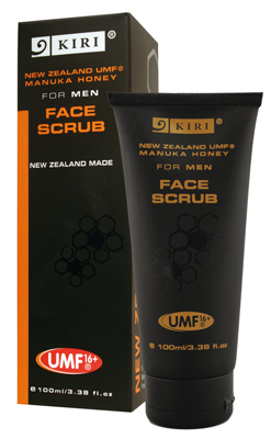 Mens_Face_Scrub_Kiri 麥盧卡蜂蜜男士專用去角質凝膠 磨砂膏