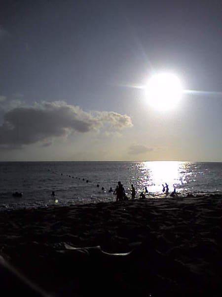 陽光在海水上