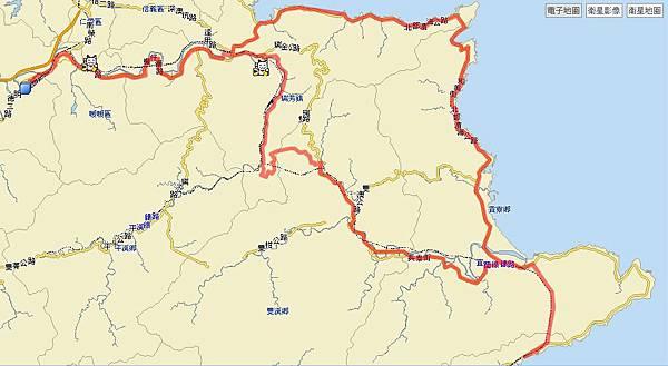 路線圖,總共騎了101公里