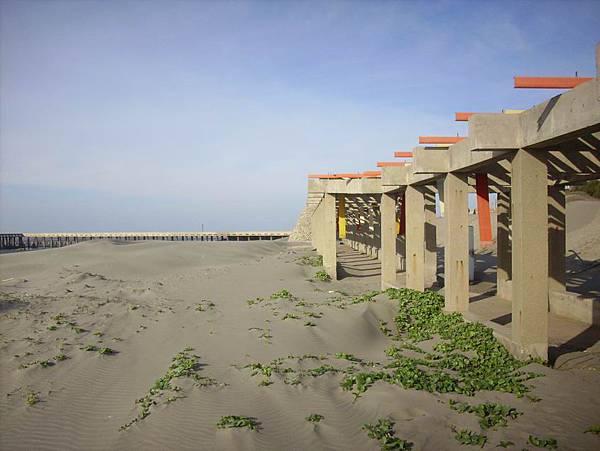 荒蕪的海水浴場
