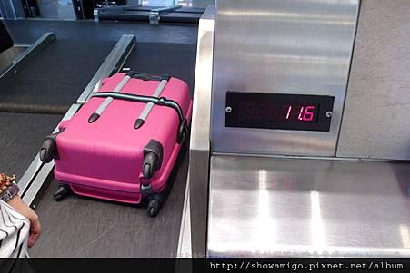 菁菁出發前行李重量