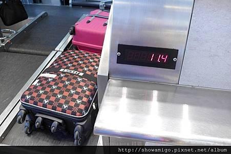 我的行李重量
