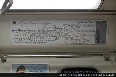 韓國的地鐵圖真的特複雜的