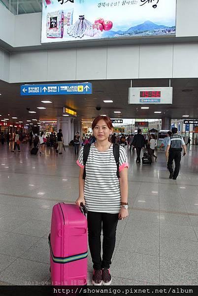 首爾車站換車中