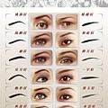 眉型專用圖譜
