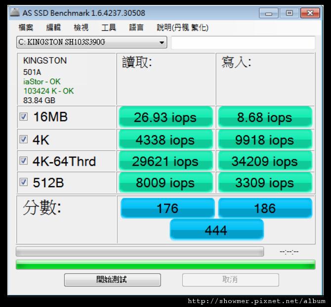 showmerAS SSD IOPS