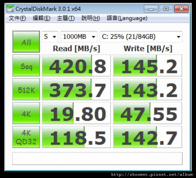 showmerCRYSTALDISKMARK 3.0.1X64 1000MB