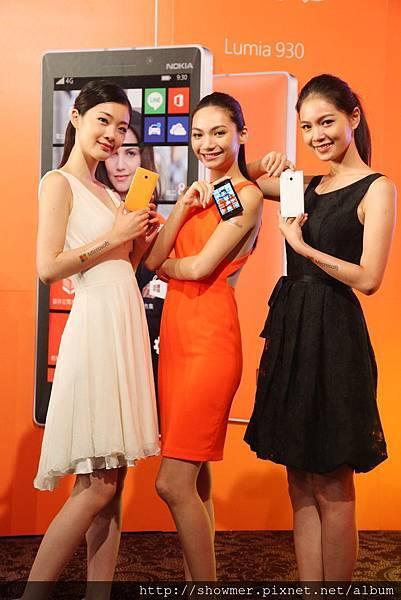 【新聞圖說1】7月16日起Lumia 930正式開賣,共有橘、黑、白三色,單機建議售價NT$18,900元