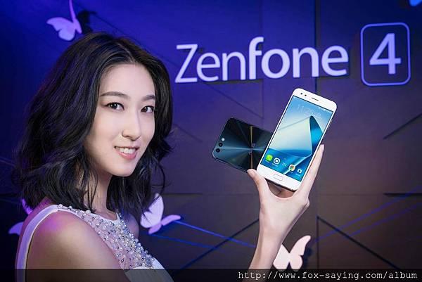 ASUS ZenFone 4系列智慧型手機,雙鏡頭設計開啟攝影的無限可能(圖為ZenFone 4)
