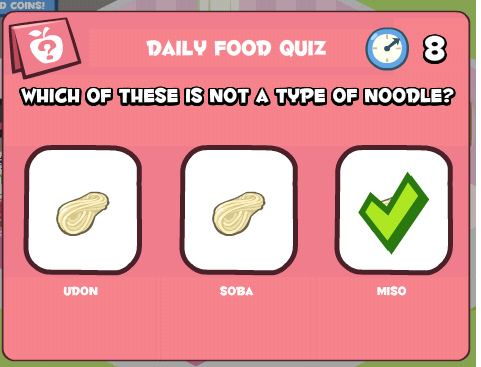 Which of these is not a type of noodle.bmp