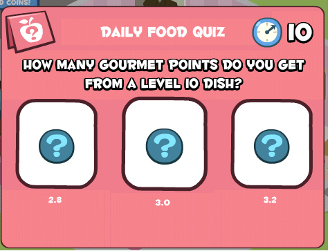 how many gourmet points do you get from a level 10 dish.bmp